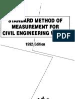 Standard Method of Measurement for Civil Engineering Works