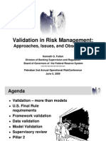 Validation - Issues, Challenges, Observations - Febraban (June 2009)