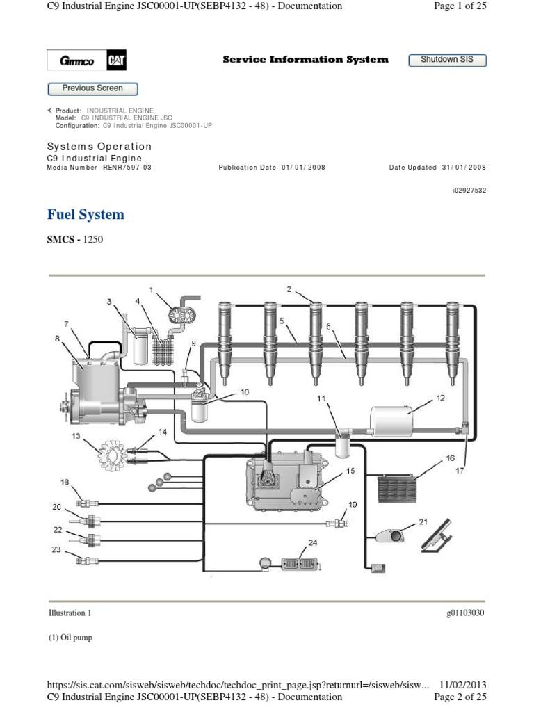 heui fuel system c9 engine fuel injection actuator rh scribd com Caterpillar C9 Engine Specs Caterpillar C11 Engine