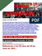 Noticias Uruguayas sábado 13 de julio del 2013