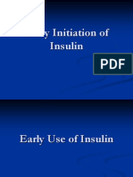 Early use of Insulin in Type 2 Diabetes