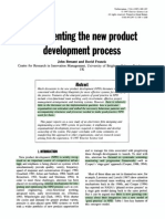 Implementing the New Product Development Process