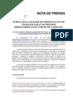 Bases Premios Iberoamericanos Cortes Cadiz 2014