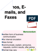 Topic 8 Memos, E-Mails, And Faxes