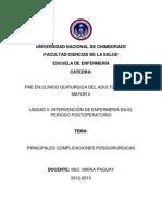 Documento Final de Complicaciones y Cuidados Enferm.