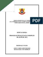 Kertas Kerja Program Pemantapan Disiplin 2013