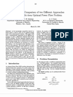 A Computational Comparison of Two Different Approaches to Solve the Multi-Area Optimal Power Flow