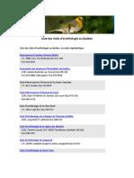 Liste des clubs d'ornithologie (Québec)