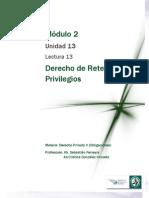 Lectura 13 - Derecho de Retención y Privilegios