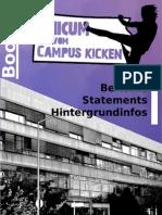 UNICUM vom Campus kicken (Booklet)