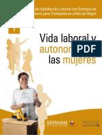 Taller de Habilitación Laboral con Enfoque de Género para Trabajadoras Jefas de Hogar- 01 Vida Laboral y autonomia de las mujeres