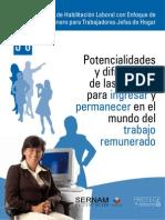 Taller de Habilitación Laboral con Enfoque de Género para Trabajadoras Jefas de Hogar- 05 06 Potencialidades y dificultades de las mujeres