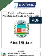 diario oficial de nova iguaçu . 12 de julho de 2013