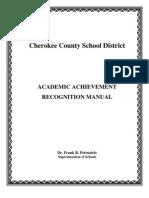 Academic Achievement Recognition Manual