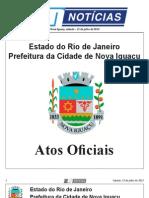 diario oficial de nova iguaçu . 13 de julho de 2013