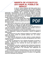 CARTA ABIERTA DE #YOSOY132 -POSGRADO UNAM-AL PUEBLO DE MÉXICO