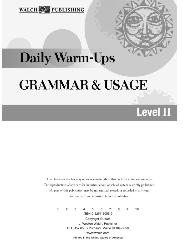 WarmUpsGrammar_PDF_Book pdf | Adverb | Adjective