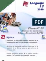 Clase 25 Lenguaje LC Cpech - Sintesis (OliverClases)