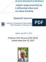 Ryszard B. Pecherski, Evolution of elastic range accounting for strength differential effect and micro-shear banding. In memoriam Piotr Perzyna