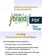CHOOSING BRAND ELEMENTS TO BUILD BRAND EQUITY