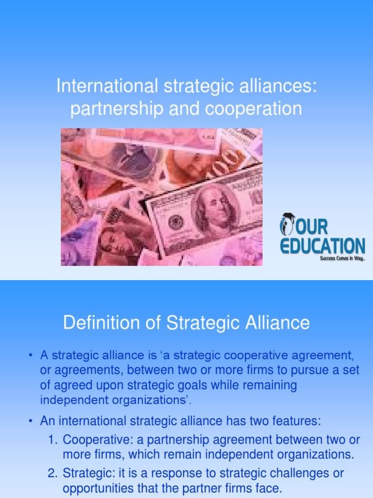 International Strategic Alliances Partnership And Cooperation