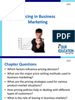 Pricing in Business Marketing