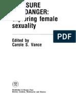 Vance_Carole S. (Ed.) - Pleasure and Danger - Exploring Female Sexuality