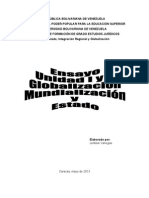 ensayo globalización, mundialización y estado