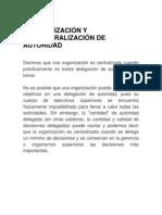 CENTRALIZACIÓN Y DESCENTRALIZACIÓN DE AUTORIDAD