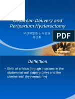 Cesarean Delivery and Hysterectomy