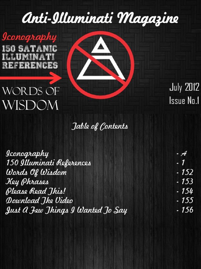 Anti illuminati magazine july 2012 satanism number of the beast biocorpaavc Choice Image