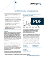 JP Morgan Fixed Income Correlation Trading Using Swaptions