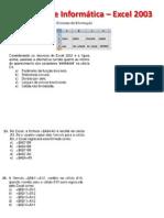 Questões de Informática – Excel 2003