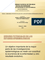 EXPO TEMA 16. ERRORES POTENCIALES EN ESTUDIOS EPIDEMIOLOGICOS