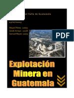 Explotación minera en Guatemala