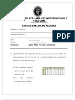 EXAMEN PARCIAL DE ÁLGEBRA 14-07-13 UPEIN