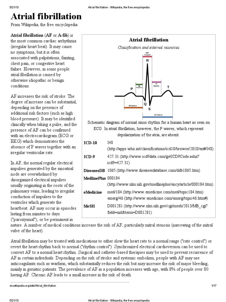 atrial fibrillation wikipedia the free encyclopediapdf heart