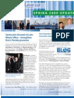 Arnstein & Lehr Spring 2009 Update Newsletter