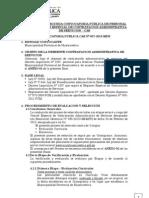 BASES CONVOCATORIA PÚBLICA CAS Nº 007-2013-MPH