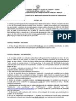 Edital PPGEAC-UNIRIO Mestrado Profissional 2013