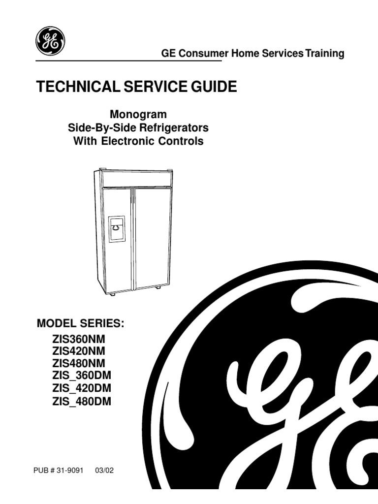 ge monogram refrigerator service manual refrigerator direct current rh scribd com GE Monogram Refrigerator Drawers GE Monogram Beverage Refrigerator