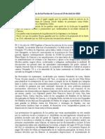 Participación de los Pardos de Caracas el 19 de abril
