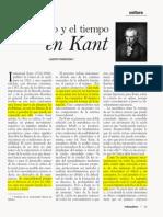 Immnauel Kant - Tiempo y Espacio.,