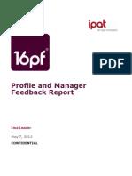 IPAT 16PF Profile and Mgr Feedback Report Sample(5)