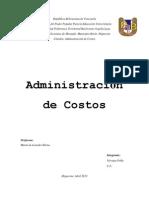 administracion costos nirvana 70,ºº