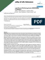 Warwick Wellbeing Scale
