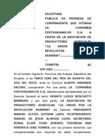 Escrtura Publica de Promesa de Compraventa - A. Productores Agricolas
