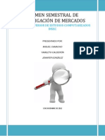 Investigacion de Mercado, Semestral