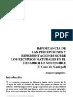 Eguiguren, Amparo. Importancia de Las Percepciones y Representaciones Sobre Los Recursos Naturales en El Desarrollo Sostenible. El Caso de Nanegal.