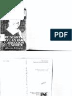 René Descartes. Reglas para la dirección del Espíritu. Traducción de Juan Manuel Navarro C.